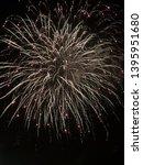 firework burns with bright... | Shutterstock . vector #1395951680