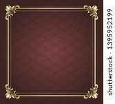 decorative frame in vintage... | Shutterstock .eps vector #1395952199
