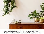 nice and retro space of home... | Shutterstock . vector #1395960740