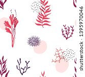 bright coral reef seamless... | Shutterstock .eps vector #1395970046