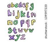 cartoon alphabet   Shutterstock . vector #139597220