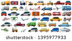 set of transportation vehicle... | Shutterstock .eps vector #1395977933