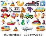 set of children toys... | Shutterstock .eps vector #1395992966