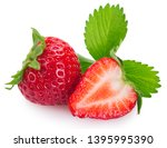 fresh strawberry isolated on... | Shutterstock . vector #1395995390