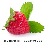 fresh strawberry isolated on... | Shutterstock . vector #1395995393