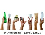 hands holding and show recycle... | Shutterstock . vector #1396012523