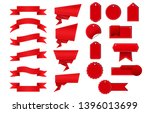 special offer tag set red flat...   Shutterstock .eps vector #1396013699