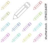 pencil  style multi color icon. ...