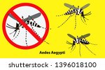 set of prohibited aedes aegypti ... | Shutterstock .eps vector #1396018100