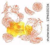 collection of lemon and lemon... | Shutterstock .eps vector #1396020236