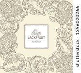 background with jackfruit ... | Shutterstock .eps vector #1396020266