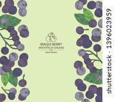 background with maqui berry ...   Shutterstock .eps vector #1396023959