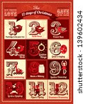 vintage twelve days of... | Shutterstock .eps vector #139602434
