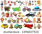 set of children toys... | Shutterstock .eps vector #1396027523