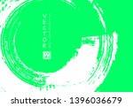 abstract ink brush stroke on...   Shutterstock .eps vector #1396036679