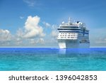 cruise ship  large luxury white ... | Shutterstock . vector #1396042853