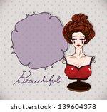 beautiful female   red hand...   Shutterstock .eps vector #139604378