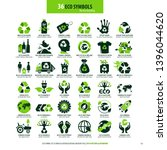collections of eco friendly... | Shutterstock .eps vector #1396044620