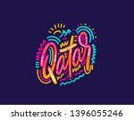 qatar. name country word text... | Shutterstock .eps vector #1396055246