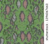 snake skin scales texture.... | Shutterstock .eps vector #1396067663