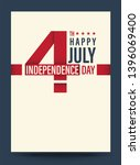 template 4th of july... | Shutterstock .eps vector #1396069400