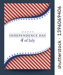 template 4th of july... | Shutterstock .eps vector #1396069406