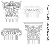 classic style column   vector... | Shutterstock .eps vector #139606949