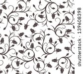 Seamless Pattern With Rose Bud...