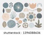 natural patterned doodle... | Shutterstock .eps vector #1396088636