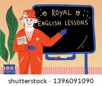 english lesson. portrait of... | Shutterstock .eps vector #1396091090
