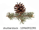 cone isolated on white... | Shutterstock . vector #1396092290