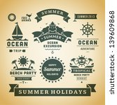 retro summer labels and signs.... | Shutterstock .eps vector #139609868