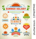 retro summer labels and signs.... | Shutterstock .eps vector #139609940