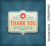 thank you message and antique... | Shutterstock .eps vector #139609943