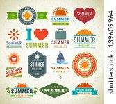 retro summer labels and signs.... | Shutterstock .eps vector #139609964