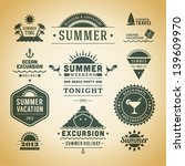 retro summer labels and signs.... | Shutterstock .eps vector #139609970