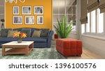 interior of the living room. 3d ...   Shutterstock . vector #1396100576