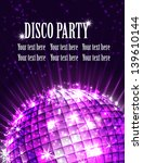 background disco party | Shutterstock .eps vector #139610144