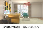 interior of the living room. 3d ... | Shutterstock . vector #1396103279