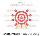 target with eight arrows ... | Shutterstock .eps vector #1396117019