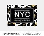 nyc slogan typography on... | Shutterstock .eps vector #1396126190