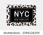 nyc slogan typography on... | Shutterstock .eps vector #1396126193