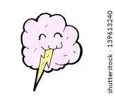 cute cloud with lightning bolt | Shutterstock . vector #139613240