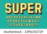 super hero font 3d effect... | Shutterstock .eps vector #1396142729