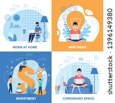 work at home  investment  new... | Shutterstock .eps vector #1396149380