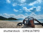 tourist camera placed on the... | Shutterstock . vector #1396167893