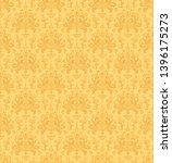 damask seamless pattern. yellow ... | Shutterstock . vector #1396175273