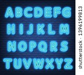 neon letters signboard  vector... | Shutterstock .eps vector #1396199813