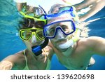 couple with snorkeling... | Shutterstock . vector #139620698