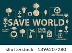 go green campaign. ecology... | Shutterstock .eps vector #1396207280